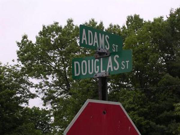 Letreros de calle Douglas Adams